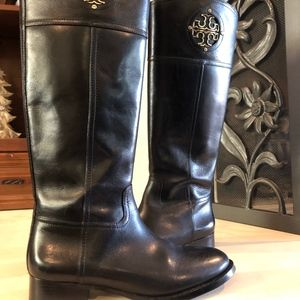 Authentic Real Leather Tory Burch Knee High Boots